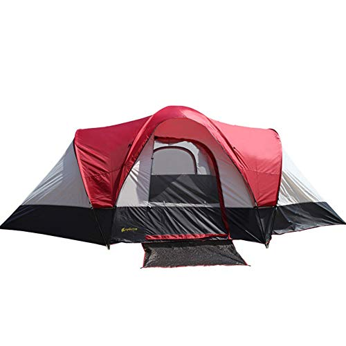Tiendas de campaña Camping Impermeable Deluxe Family Large Red Carpa (Color : Red, Size : One Size)