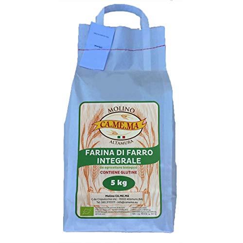 Farina di Farro Integrale 5kg alta qualità, prodotto BIO, Altamura (Puglia)