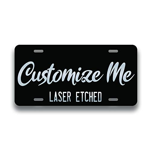Personalized Front License Plates - Laser Engraved - Custom License Plate for Front Car - Personalized License Plates for Front of Car - Car Tags - 6' x 12' - Aluminum License Plate - Made in USA