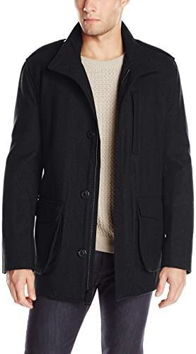 Marc New York by Andrew Marc Men's Terry Wool-Blend Field Coat