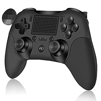 Wireless Controller for Playstation 4/Pro/Slim/PC RegeMoudal Wireless Gamepad HD Dual Vibration and Turbo Fire Function Bluetooth Connection pro Controller with 6-axis Gyro Sensor and Touchpad