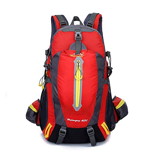 HS-LAMP 35L Lightweight Foldable Backpack Packable Water Resistant Daypack for Outdoor Walking Camping Traveling Cycling Holiday Unisex (Color : Red)