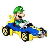 Hot Wheels Luigi Mach 8 Super Mario Kart Character Car Diecast 1:64 Scale