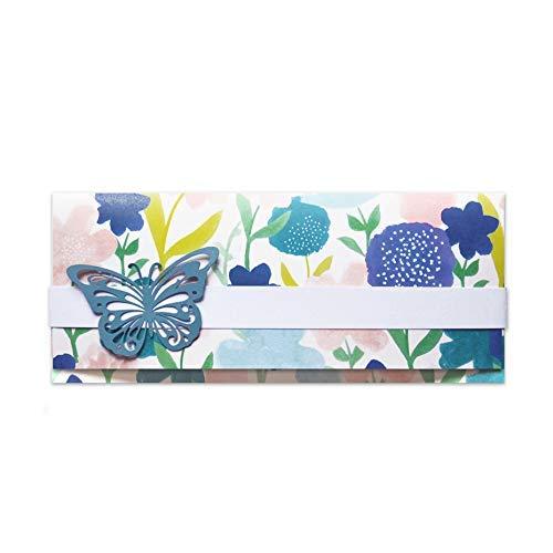 Porta soldi - cerimonie - matrimonio - busta portasoldi (formato 22 x 9,5 cm) + biglietto d'auguri vuoto all'interno - ideale per il tuo messaggio personale - realizzato interamente a mano.