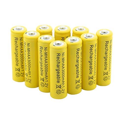 WSXYD Batería AA Ni-Mh De 1.2v 3000mah, Pilas Recargables Nimh para Antorcha Linterna Maquinilla De Afeitar para Coche Mp3 Mp4 Modelo aéReo 20Pcs