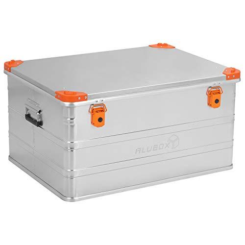 ALUBOX D157 Premium Aluminium Lagerbox Alukiste 157 Liter mit Stapelecken