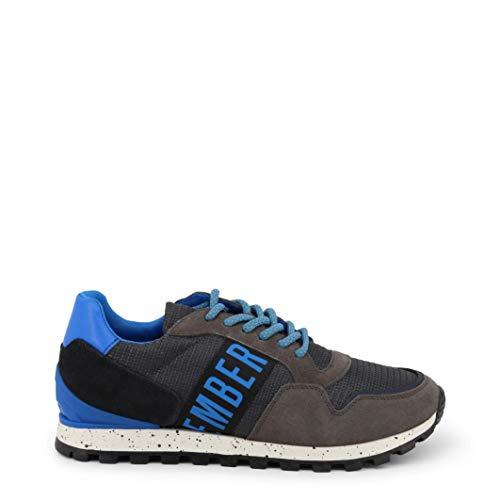 BIKKEMBERGS Scarpe Basse Sneakers Uomo Grigio (Fend-ER_2356)