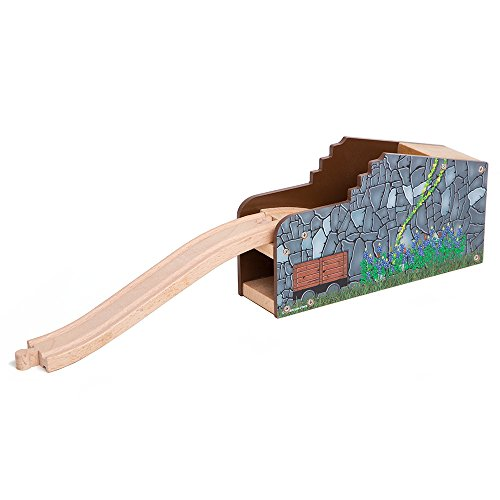 Orbrium Secret Mine Tunnel Wooden Compatible with Major Wooden Railway Systems includingThomas Brio Chuggington Melissa & Doug Imaginarium Set Toys