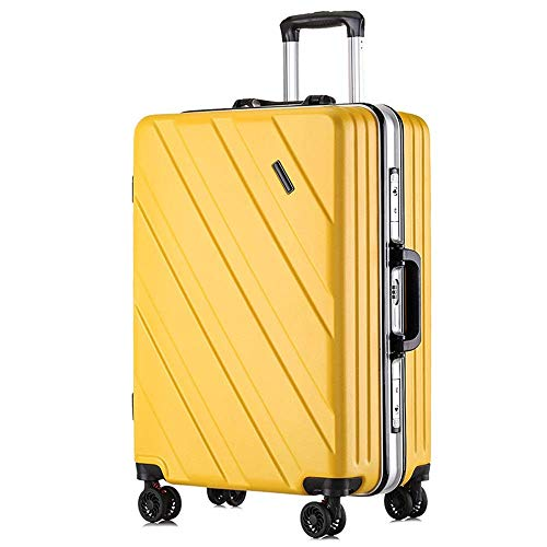 Aluminum Frame Trolley Case 24 inch Silent Caster Boarding Trolley Case 360 ??Degree Silent Universal Wheel Scientific Shock Absorption for all Kinds of Pavement Carry-On Luggage