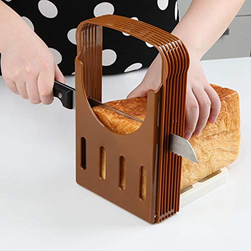 Bread Slicers Guide for Homemade Bread Adjustable & Foldable Hand Loaf Cakes Cutter Folding Bagel Toast Slicing Machine Sandwich Maker with 4 Slice Thicknesses