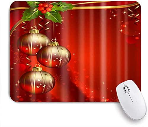 HASENCIV Alfombrilla de Ratón,Hermosas Luces Rojas y Verdes Feliz Navidad,Alfombrilla de ratón Gaming,Base de Goma Antideslizante,Mouse Pad para Oficina 24 x 20 cm