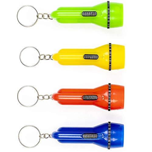 THE TWIDDLERS 24 Schlüsselanhänger Taschenlampe Klein, Schatzsuche Kindergeburtstag, Kleines Geschenk, Aktivitäten Im Innen- Und Außenbereich Für Kinder