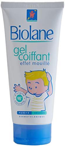 Biolane – Gel Coiffant Effet Mouillé – Pour fixer les cheveux des jeunes enfants et réaliser leurs premières coiffures – 100 ml