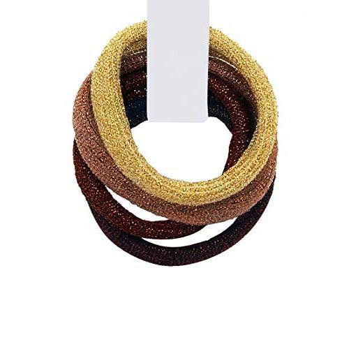 3161-333 - Set 4 pièces Cheveux pour cheveux Paillettes Made in Italy cm 0,5 avec 4 cm de diamètre environ - Couleurs mixtes - Mix Marrone