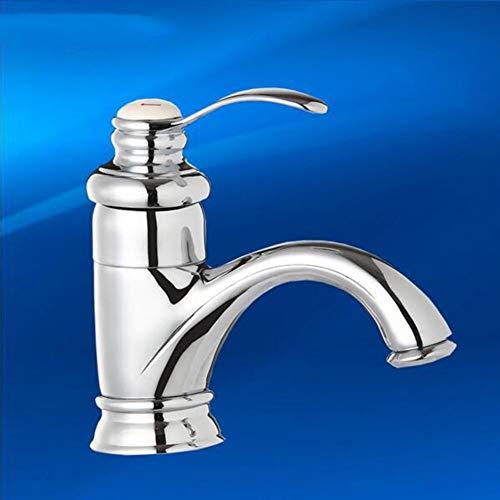 BXU-BG Cuarto de baño del lavabo del fregadero golpecitos grifo caliente y frío de cerámica Core orificio de la tetera de latón cromado grifo