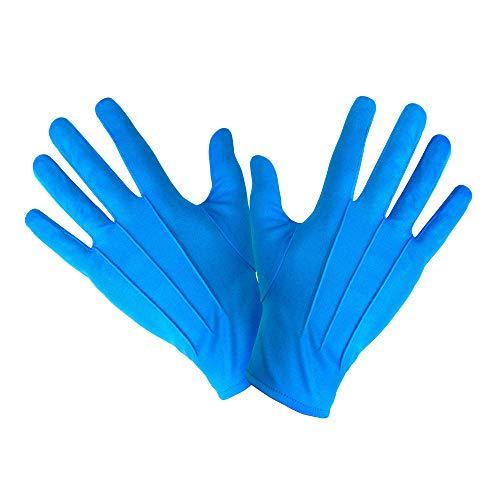 Handschuhe kurz blau Türkis Clown Zirkus blue Engel Gloves short Hand Schuhe