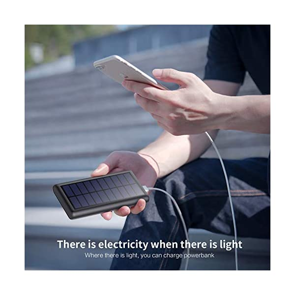 Solar Power Bank 26800mAh, HETP 【2020 Newest Solar Portable Charger】 Portable Charger External Backup Battery Pack with…