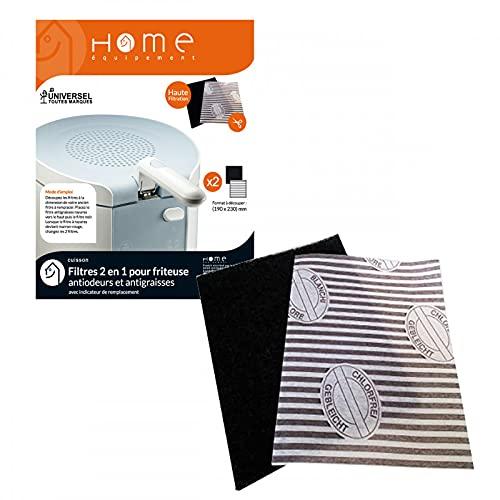 Home Equipement A94129 Friteuse Filtre Filtre Anti Graisses & Odeurs pour Friteuse X6