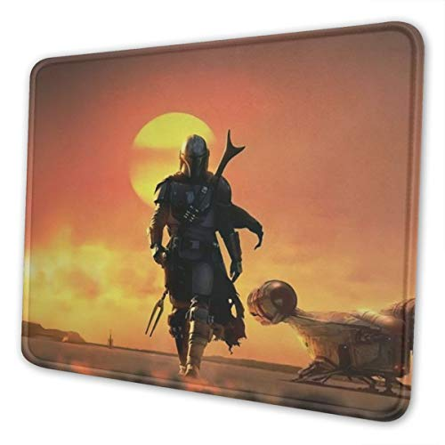 The Mandalorian Mouse Pad Mat Gaming Unique Custom Mousepad, Computer Keyboard, Stitched Edges, Office Ideal for Desk Cover, Large Mouse Pats, Laptop and PC 7.9 x 9.5 in