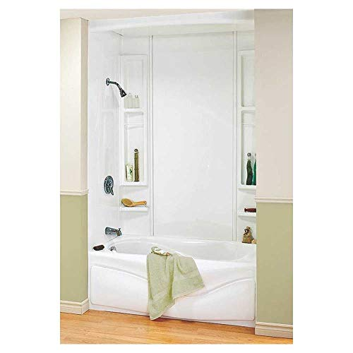 5-piece White Tub Wall Kit