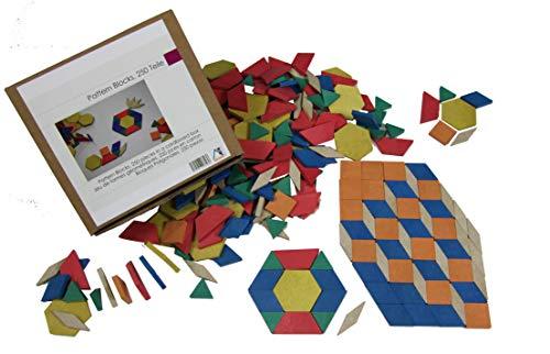 WISSNER Wood Puzzle - Bloques de patrones de juegos de rompecabezas, de Patented Eco-Friendly '- FUN Ejercicios en geometría, simetría y colores