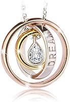 Swarovski Elements Rose Gold Plated 925 Sterling Silver Pendant Necklace JRosee Jewelry JR696