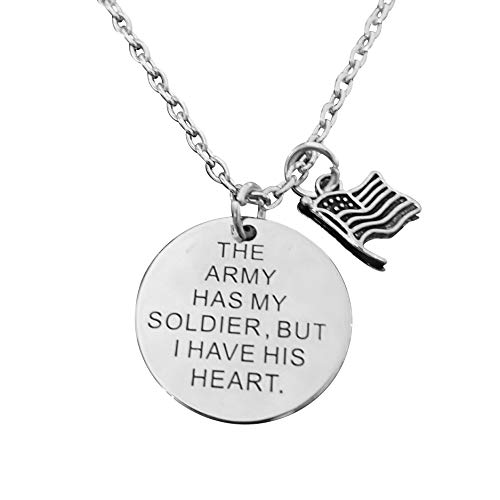 Art Attack United States Army Necklace, American Flag Pendant, Gift for Military Parent, Child, Girlfriend, Boyfriend, Brother & Sister