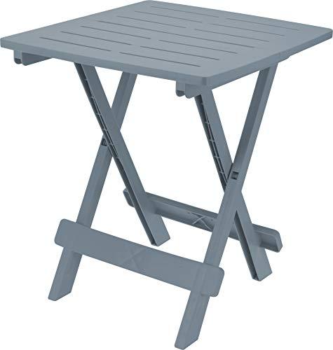 Fair-Shopping Campingtisch Gartentisch Klapptisch Falttisch Beistelltisch klappbar 45x50cm 4 Farben (Grau)