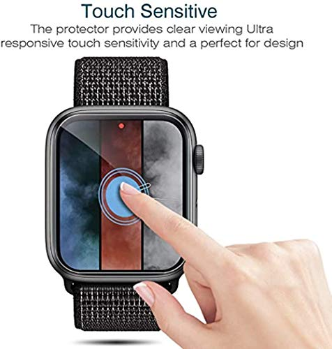 Kavivia [6 Pack] Screen Protector for Apple Watch 44mm Series 4/5 – Max Coverage Bubble-Free Anti-Scratch iWatch 44mm Flexible TPU Clear Film