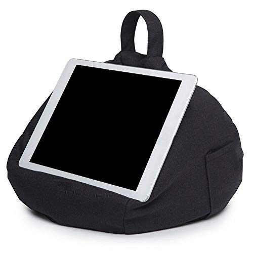 S WIDEN ELECTRIC Tablet Pillow Holder | Soft Pillow Lap Stand for iPads, Tablets, eReaders, Smartphones, Books, Magazines | Portable Bean Bag Imitation Hemp Car Home Tablet Cushion