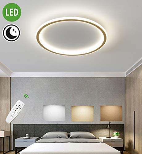 LED plafondlamp dimbaar modern rond design woonkamer lamp ultradunne ring plafondlamp met afstandsbediening decoratieve lamp slaapkamerlamp plafondspot keuken eetkamer binnenverlichting 50W, Ø40cm