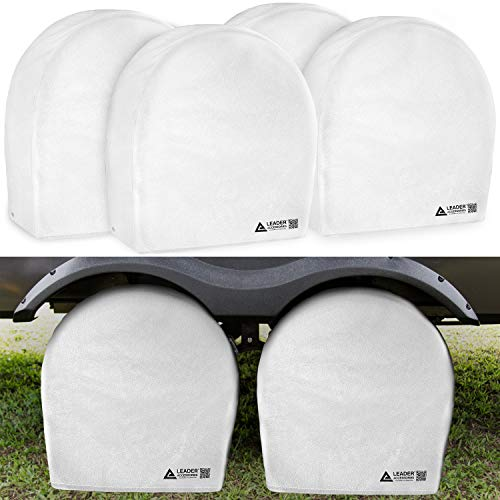 "Leader Accessories 4pcs RV Tire/Wheel Covers Camper Car Trailer Truck (26.75""-29"")"