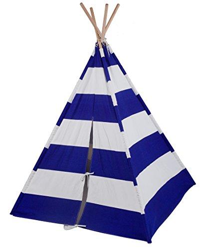 Wildkin Leinwand-Spiel-Zelt, Blue & White Stripes