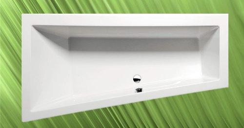 Badewanne ANDRA 180x90cm Ausführung Links mit Wannenfüssen