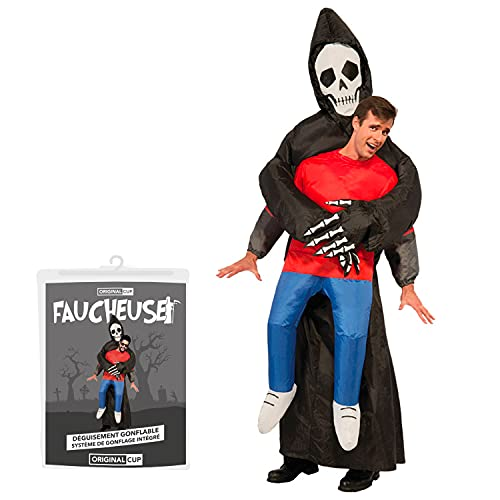 Traje Inflable de la Parca  Disfraz de Halloween Peculiar  Original Tamao Adulto  PolisterCmodo  Resistente  Sistema de inflacin Incluido  OriginalCup