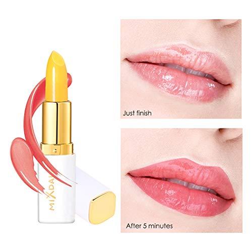 Allbestaye Gelb Jelly Lippenstift PH Farbe Ändern Temperatur Lippenbalsam Balsam Lipgloss Farbwechsel Lippenpflegestift