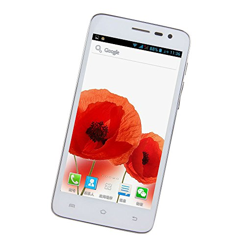 Taidallo GPS Bluetooth Blanca Cubot Bobby 3G Smartphone Android 4.2 MTK6572W A7 de Doble núcleo a 1,3 GHz 5