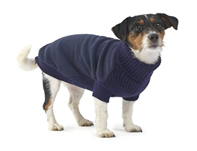 House of PawsFleece and Knit Jumper, Large, Navy