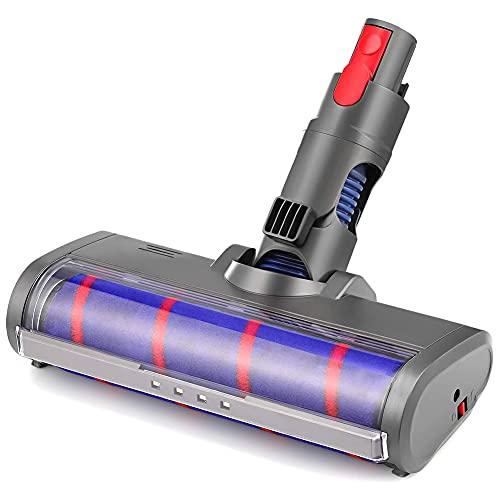 HONGER Cabezal limpiador de rodillos blandos de repuesto compatible con Dyson V7 V8 V10 V11 Aspiradora inalámbrica de palo, cabezal de cepillo, cepillo de piso de alfombra