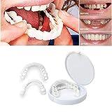 Braces Instants Veneers Dentures Fake Teeth Smile Serrated Denture Teeth Top Or Bottom Comfort Fit Flexible Teeth Socket to Make White Tooth Beautiful Neat