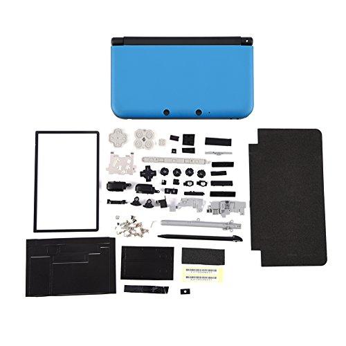 Zerone Entièrement Complet boîtier Shell réparation pièces de Rechange Kits de pièces pour Nintendo 3DS XL(Bleu)