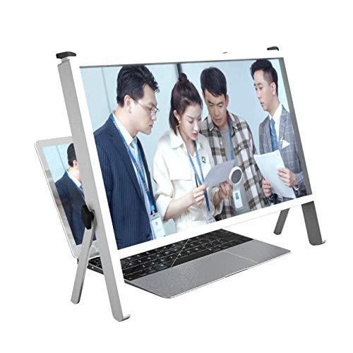 XIAOKUKU Notebook Computer Bildschirmlupe, 22 Zoll Laptop Bildschirmlupe unterstützt Winkeleinstellung 4-Fach Ultra-klare Vergrößerung Tablet-Bildschirm, Anti-Blaulicht-Strahlung, für Spiele, Filme,A