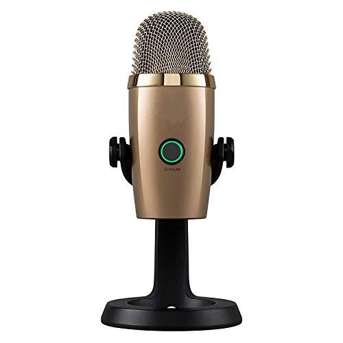 QCHEA Micrófono USB Nano Premium for grabación y transmisión (Color : Gold)