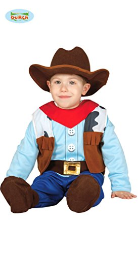 Guirca Costume Robe Cowboy Baby Carnaval Enfant Taille 1 – 2 Ans, Couleur mulicolor, fg83305