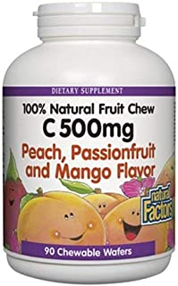 Natural Fruit Chew, Passionfruit & Mango 90 Tabs by Natural Factors (Pack of 2)