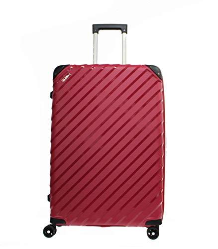 Alexander - Valigia in polipropilene da viaggio, bagaglio, cabina aereo, struttura leggera, impermeabile, con serratura, manico telescopico, 8 ruote, rosso, S,