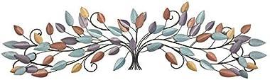 Bellaa 21987 Tree of Life Metal Wall Art Scroll Leaf Wall Decor 52 Inch