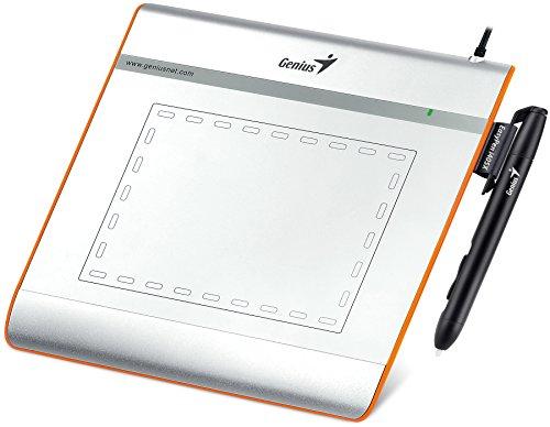 Genius EasyPen i405X - Tableta gráfica (Bolígrafo Incluido, Nivel de presión: 1024, Placa incluida, Precisión del bolígrafo 0.25 mm), Plateado