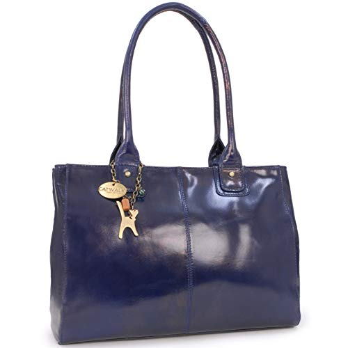 CATWALK COLLECTION - KENSINGTON - Bolso de hombro estilo shopper - Cuero vintage - Grande