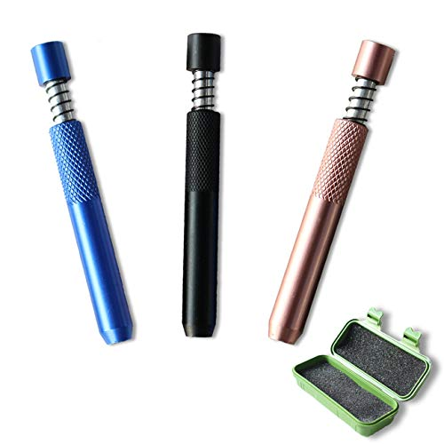 3 Pieces Spring Loaded Minimalist Tube,Anti-Drop Plastic Box Packaging
